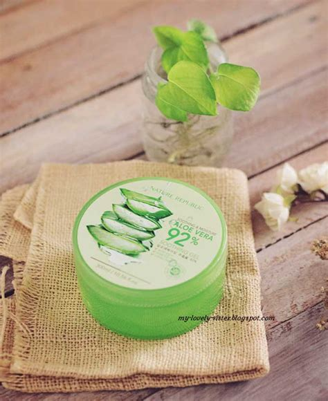 Pelembab Nature Republik my lovely a with monday s 113 nature republic aloe vera soothing gel