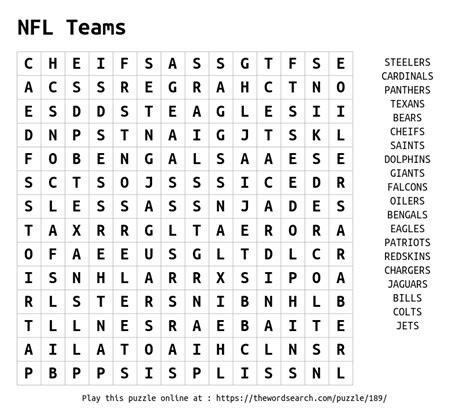 printable word searches nfl teams download word search on nfl teams