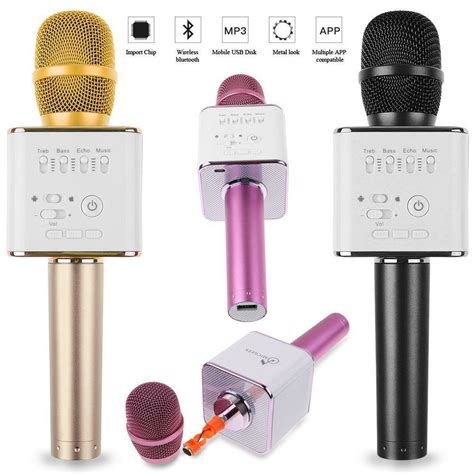 Mic Karaoke Q9 1 updated version tuxun q7 micgeek q9 wireless bluetooth
