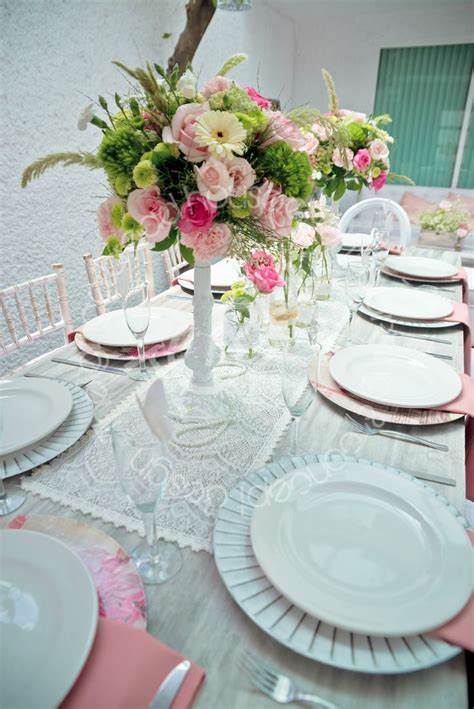 shabby chic birthday party shabby chic tablescape flower