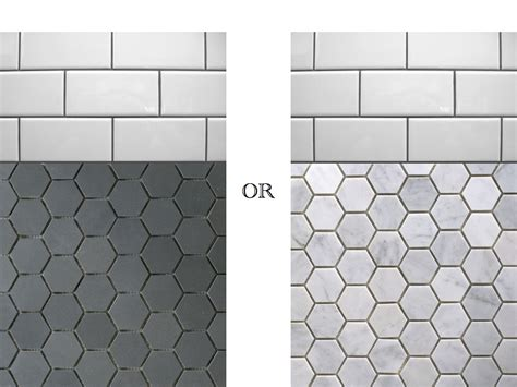 Hex Tiles For Bathroom Floors by Black And White Hexagon Bathroom Tile Hexagon Tile