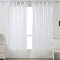Grommet Curtains With Sheers Sheer Voile Curtains Transparent Curtains Grommet Curtains And Drapes 1 Pair New Ebay