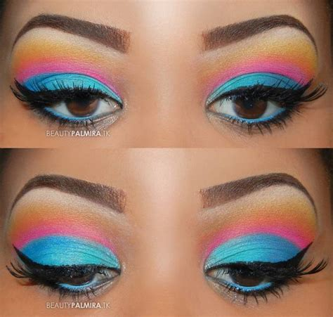 The Gallery For Gt Bright Eye Makeup Looks Color Eyeshadow