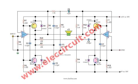 Power Lifier Kit Ic Tda tda2030a power lifier schematic diagram simple
