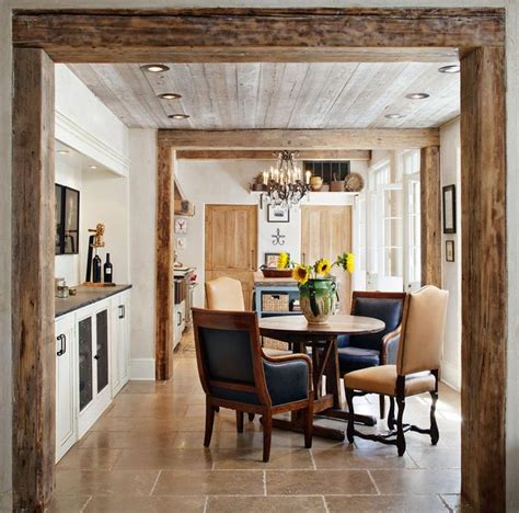 casual countryrustic dining room  richard ourso