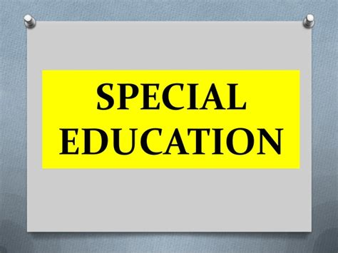special education education for all