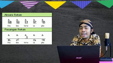belajar aksara rekan  pasangannya sinau aksara jawa