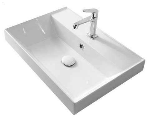 self rimming bathroom sinks scarabeo ceramiche rectangular white ceramic self rimming