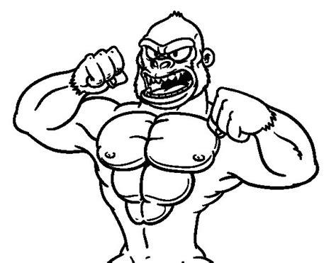 imagenes de hombres fuertes para colorear dibujo de gorila fuerte para colorear dibujos net