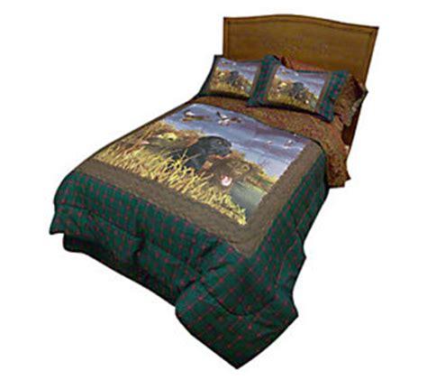hautman brothers lab trio full size comforter set qvc com