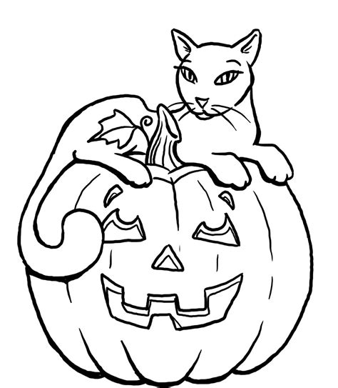 halloween cat coloring pages festival collections