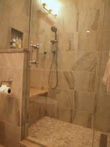 standing shower bathroom design standup shower with river rock floor traditional
