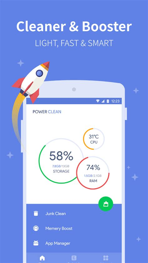 cleaner for android power clean anti virus cleaner and booster app android apps on play
