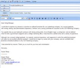 how to send a cover letter in email 5 tips and sles for sending email cover letters