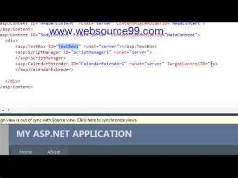 Why Calendarextender Is Not Working How To Use Ajax Calendarextender In Asp Net