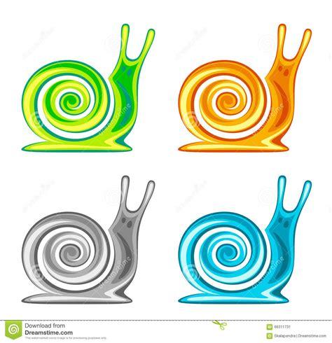 Kemeja Black Abstract White Snail snail set stock vector image 66311731