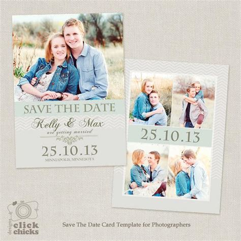 Save The Date Card Template 5x7 Flat Photo Card 001 C065 Save The Date Cards Templates 2