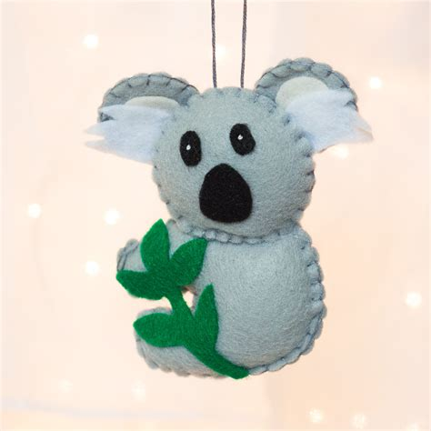 felt ornament felt koala bear ornament