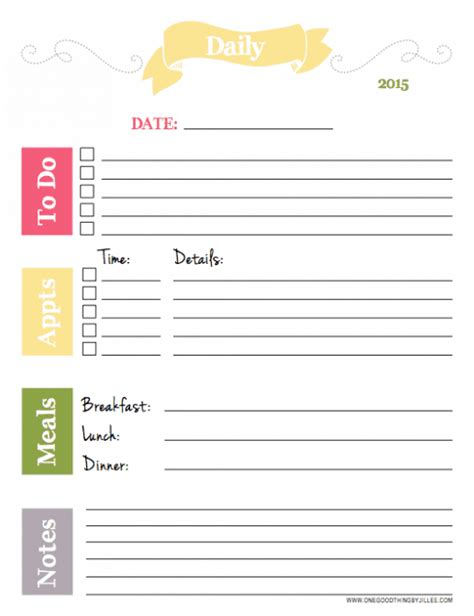 daily planner january 2015 our best organizing tips free 2015 printable planners