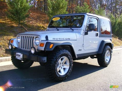 silver jeep rubicon 2003 bright silver metallic jeep wrangler rubicon 4x4