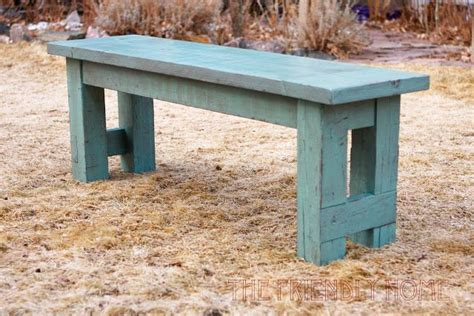outdoor farm table with benches diy create your own rustic turquoise bench home ranch