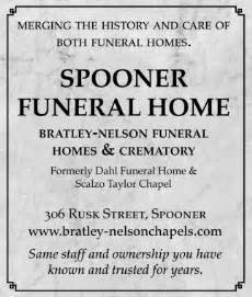 spooner funeral home bratley nelson funeral homes and