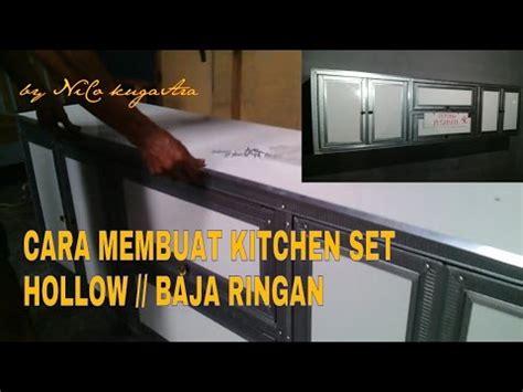 tutorial membuat kitchen set sendiri cara pemasangan atap baja ringan galvalum spandek 4
