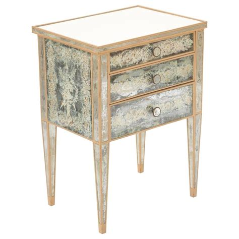 Mirrored Nightstand Sales by Eglomise Mirrored Nightstand Commode At 1stdibs