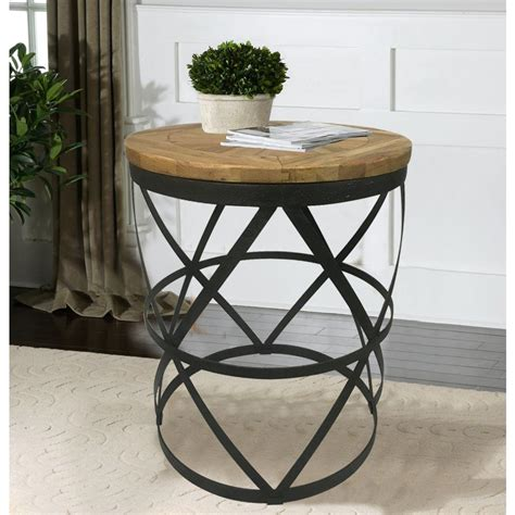 Wonderful Reclaimed Wood Round Kitchen Table #1: Black-end-tables-dmt-086-64_1000.jpg