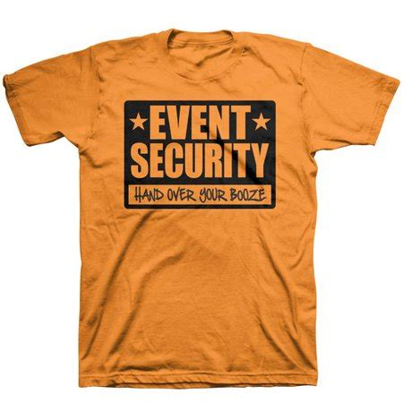 Tshirt Event Security event security sleeve t shirt neon orange walmart