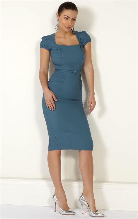miranda blu dress light blue bodycon dress  busty women