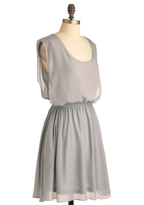 Simple Dress simple solution dress in silver mod retro vintage