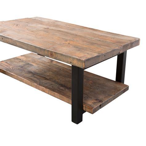 """Loon Peak Somers 42"""" Wood/Metal Coffee Table & Reviews   Wayfair"""