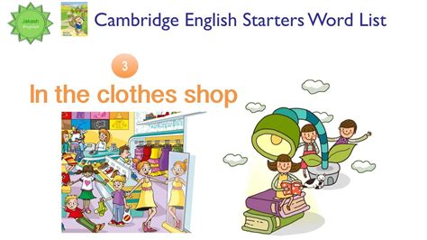 cambridge english starters 1 1316635937 cambridge english starters word list in the clothes shop từ vựng tiếng anh cambridge youtube