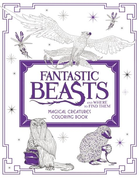 harry potter coloring book for sale fantastic beasts and where to find them magical creatures