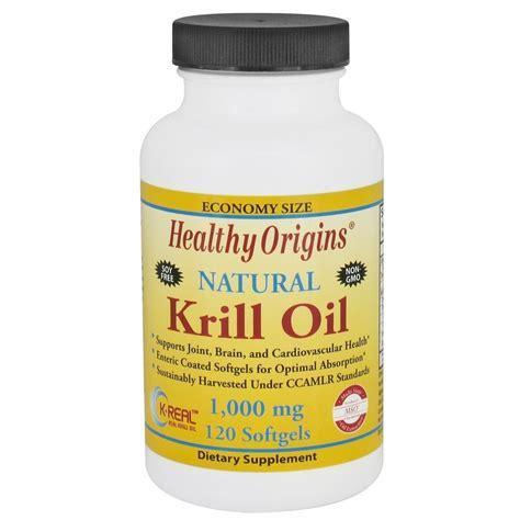 healthy origins krill oil 1000 mg 120 softgels