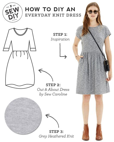 sewing pattern simple dress diy outfit everyday knit dress sew diy