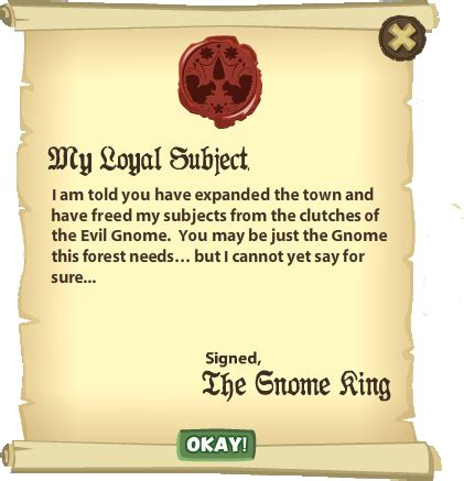 up letter to the king letter from the king gnometown wiki fandom powered by