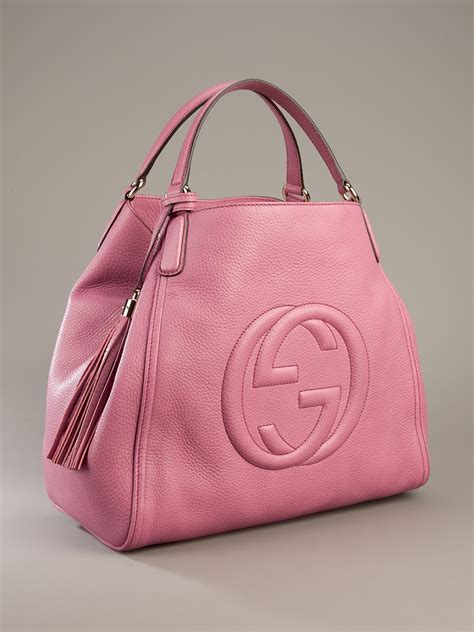 Garucci Bag Pink 2 gucci soho large sized bag in pink lyst