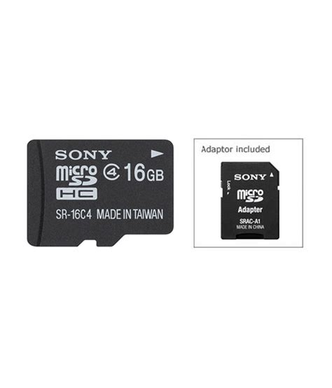 Memory Card 16 Giga sony 16 gb microsdhc memory card buy sony 16 gb microsdhc memory card at best prices in