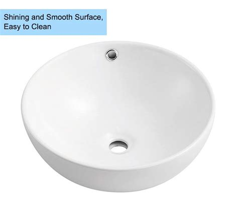 above counter bathroom sinks canada decoraport white round ceramic above counter vessel sink