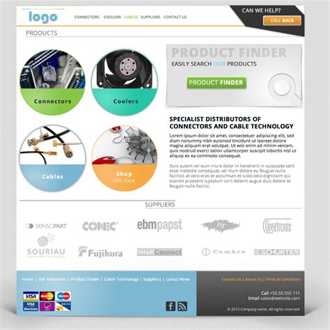 cable company website template fw amp psd format