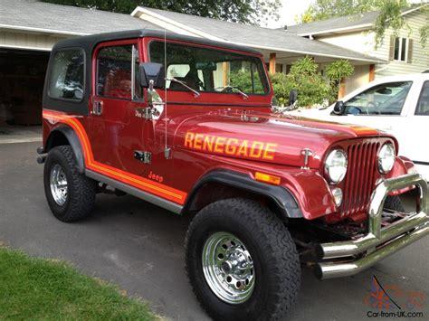 1986 Jeep Renegade For Sale 1986 Cj7 Renegade