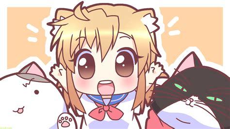 wallpaper anime cute hd chibi cat and anime wallpaper wallpaper wallpaperlepi
