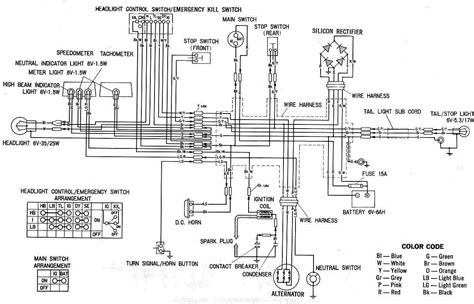 complete circuit diagram complete electrical wiring diagram of honda xl100 59658