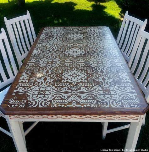 lisboa tile stencil      painted furniture furniture table furniture