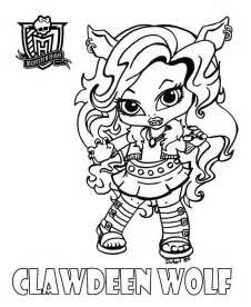 high coloring pages all characters on one page dibujo para colorear baby clawdeen colorearcolorear net