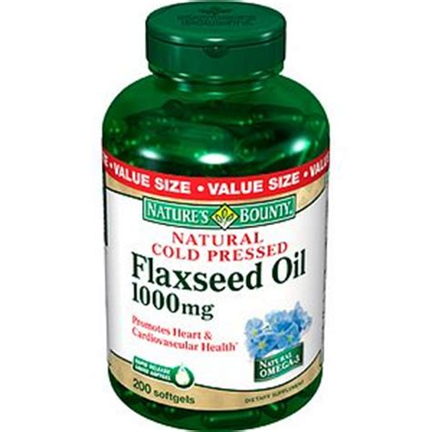 Flaseed Natures Bounty shop natures bounty flaxseed 1000mg 120softgel shopclues