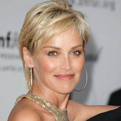 sharon stone short hair on round face why i m following sharon stone s advice on aging