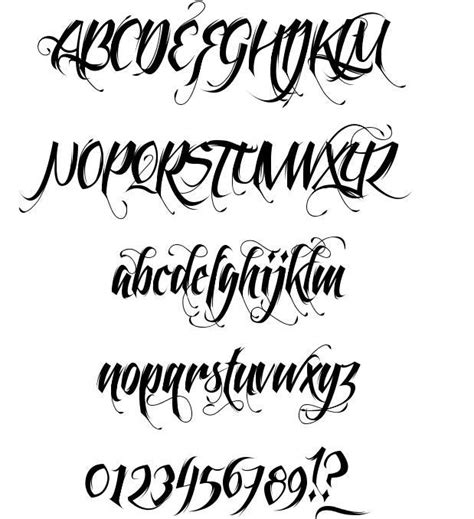 tattoo lettering preview feathergraphy font file photo preview free to download